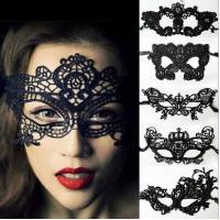 Christmas lace face mask, Halloween eye mask, party face eye mask in black 18 styles