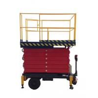 China 9M Mobile Scissor Lift for Work Shop , 500Kg Hydraulic Elevator Platform on sale