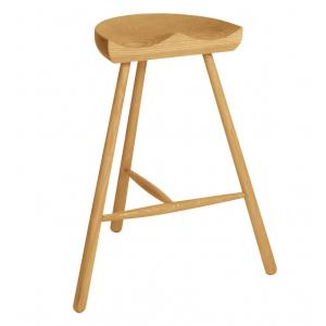 China Northern Nature Wooden Round Bar Stools For Party / Kitchen , Commercial Bar Furniture on sale
