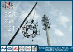 30m Height Telecommunication Towers Flange Connection For Broadcasting With Platforms