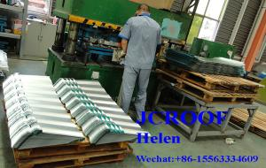 China Color Roofing Sheets Gravel Tile / Particle Vermiculite Tile , Galvalume Steel Sheet on sale