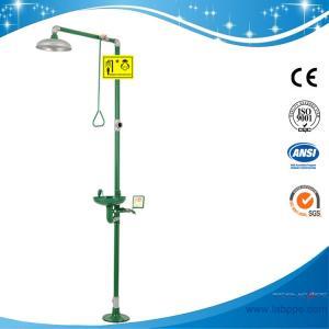 Quality SH712BSG-Safety shower & eyewash station,Carbon steel,Green eye wash and emergency shower for sale