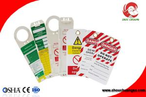 China OEM Custom Made Safety Plastic Label Tags Lockout PVC Tags and Warning Signs on sale
