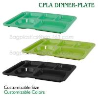 School use high quality biodegradable lunch plate for students, children plate with lid, Dishwasher Safe Shool Hospital