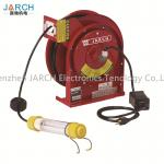2 Conductors Retractable Hose Reel Incandescent Light Cord 35 Ft Length With CE Rohs Approval