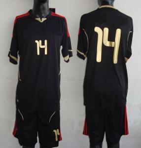 China Black Soccer Jerseys on sale