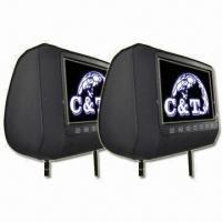 "H900DV 9"" headrest car DVD player, HD digital screen with USB, SD, IR, FM, Game, CE/FCC-approved"