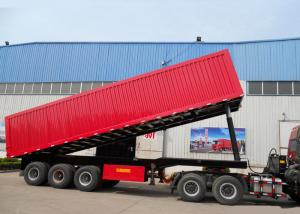 China High Efficiency 3X16 TONS Semi Tipper Trailer Dump Truck For Mining Industry on sale