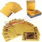 Magic Cheating Durable Waterproof Plastic 24K Gold Foil Poker 2 Numbers
