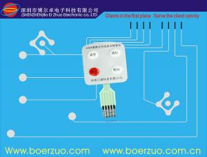 China Push Button Flexible Circuit Board Membrane Switch Assembly With LED window on sale