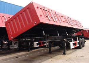 China 26 Cbm Hydraulic Side Dump Semi Trailer 2 BPW Axles For Sands / Bulk Materials on sale