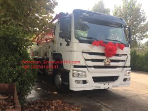 China 8 X 4 Truck Mounted Concrete Pump Truck Machine SINOTRUK HOWO Low Consumption on sale