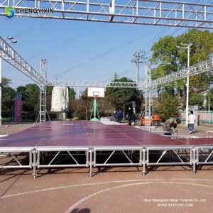 China Safety Strong Outdoor stage showing Used aluminum truss stand lift towers/truss girder/screw truss system on sale