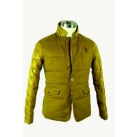 Long Sleeve Mens Windbreaker Jackets , Lightweight Quilted Jacket Yellow
