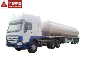 China Elliptical Vessel Shape Fuel Tanker Semi Trailer 7500kgs Tare Weight High Safety on sale