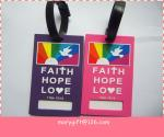 standard size pvc bag  tag for promotional