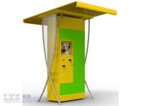 China Ordering / Retail / Payment Wireless Internet  Half Outdoor Touch Screen Kiosk Self Service on sale