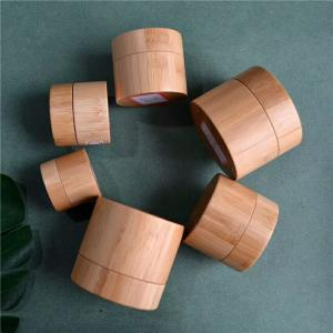 China manufacturer 10ml 15ml 30ml 50g 100g 150g  natural wood  jar cosmetic bamboo jar bamboo container on sale