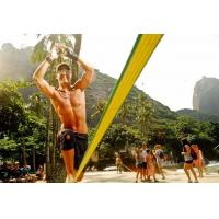 Polyester Webbing Slackline Walking Rope Yellow Color With Customized Logo