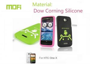 China Personalized Colors Protective Dow Corning Cell Phone Silicone Cases For Htc One X on sale