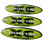 Customized Epoxy Resin Domed Vinyl Decals stickers labels tags