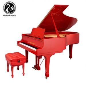Middleford piano Royal series red baby grand piano GP-152R with