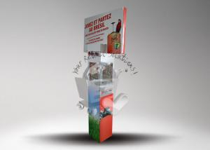 China Offset printing cardboard standee display for travel case / cardboard standups on sale