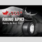Les séries de rhinocéros vont pneu de kart