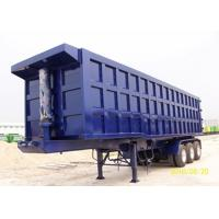 China Color Custom Triple Axle Dump Trailer , 25 - 30 CBM Tipper Semi Trailer For Sand / Coal on sale
