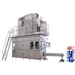 China High Speed Beverage Filling Machine , Aseptic Brick Carton Juice Filling Machine on sale