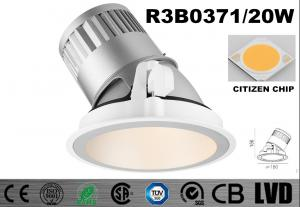 China Round 20 Watt LED Wall Washer Lights 2700K Dimmable Recessed LED Downlights on sale