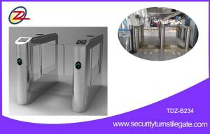 China Fast Speed Retractable Swing Barrier Gate With RFID Access Control System on sale