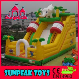 China SL-252 Giant Elephant Inflatable Slip N Slide on sale
