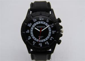 China Eco-friendly Alloy Wrist Watch with Silicone Strap , quartz wrist watch on sale