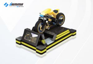 China 9D Virtual Reality Motorcycle Racing Simulator 3 Exclusives Games Black Yellow 24'' Monitor on sale