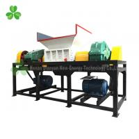 China Four Shaft Used Tire Shredder , Truck Tyre Shredder Driven By Double Hydraulic Motors on sale