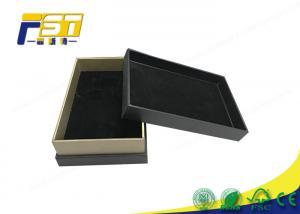 China Custom Luxury Stamped Black Handmade Cardboard Rigid Gift Boxes With Lid on sale