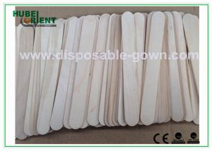 China Surgical / Medical Hospital Disposable Products Wooden Tongue Depressor , 15*1.8cm on sale