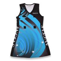 China Customized Sublimated Netball Uniforms Youth / Adult Sizes Self Design Pattern  on sale