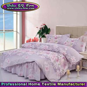 China Twin Full Queen Size Microfiber Bed Sheet Linen Bed Skirt Sets on sale