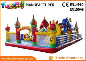 China Fun City Inflatable Bouncer Slide Inflatable Playhouse Amusement Park For Kids on sale