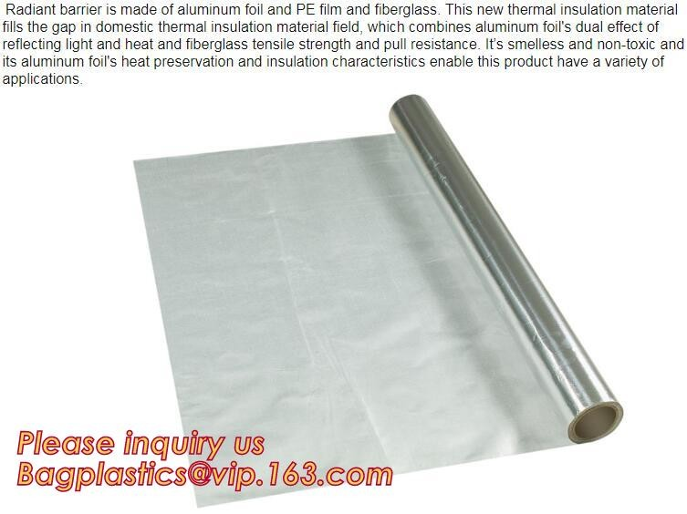 5m Roll Water Resistant Foil Faced Flame Retardant Foam Thermal Insulation 8mm