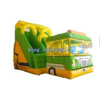 PVC Tarpaulin Inflatable Water Slide  Double Stitched Fresh Lovely Bus Style