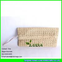 LUDA Paper Straw Clutch Purse Tote Bag Colored Straw Hard Case Natural