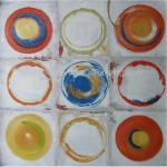 Pattern Geometry Acrylic Abstract Modern Paintings On Canvas , 100 Hand Painted