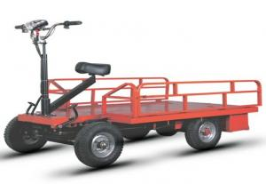 China Open Type Electric Platform Truck Four Wheel With Driver Seat on sale