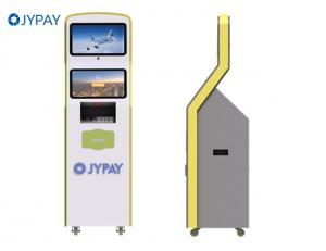 China Cash Acceptor Touch Monitor Bill Payment Kiosk With 2D Scanner Receipt Printer on sale
