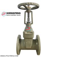 Cast Iron Rising Stem Wedge Double Disc Gate Valve ductile iron  material