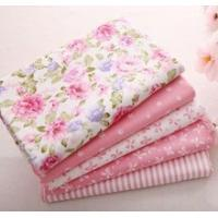 China 40cm*50cm Pink 100% Cotton Fabric For Sewing Fat Quarter Quilting Patchwork Tissue Tilda Doll Cloth Kids Bedding Textile on sale