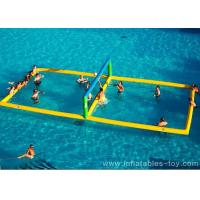 Comercial Sport Games Large Water Inflatable Volleyball Field For Beach Event